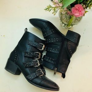 western boots leather women size 7 black